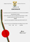 certificates water disinfection